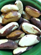 Brazil nuts...High in antioxidant selenium, they are great for the thyroid and immune system (as long as you do not have a nut allergy)