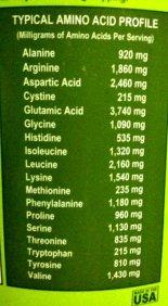 Amino Acids Profile in Original Plantfusion