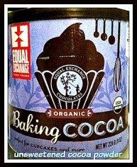 Raw, unsweetened cocoa powder