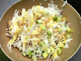 Jicama Salad.( Raw and a naturally grain and gluten-free recipe.)