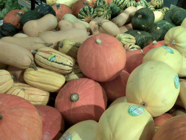 Organic winter squash. Especially spaghetti squash and delicata...yum, yum...
