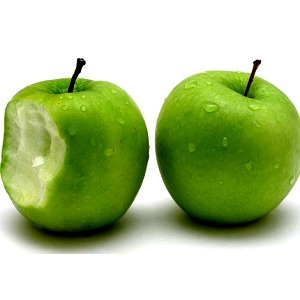 green apples are a great food source of naturally occuring malic acid