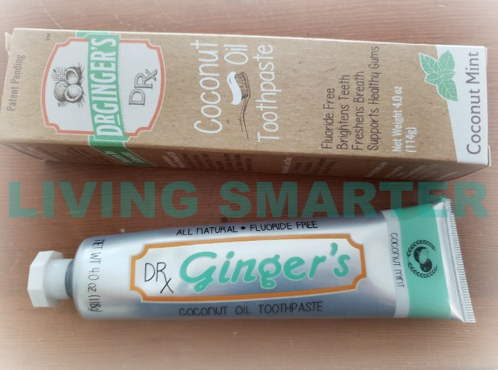 Dr. Gingers coconut oil toothpaste
