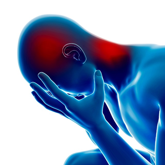 Trigger point pain in the head or neck can often be relieved by myotherapy