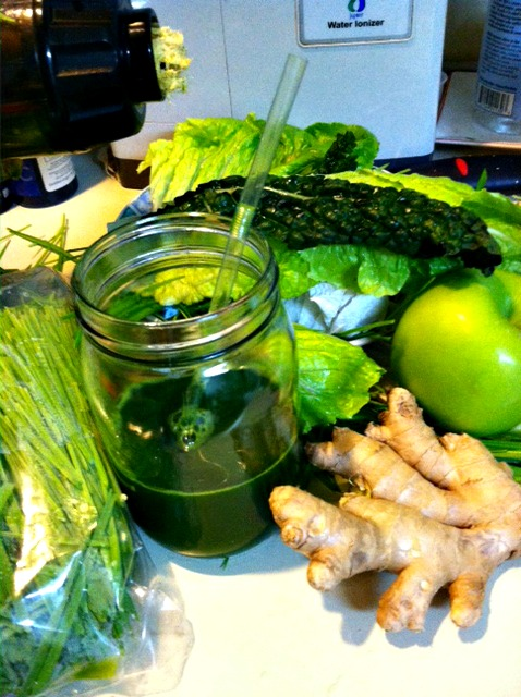 Cleansing with chlorophyll juice